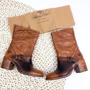 Patricia Nash Lombardy Brown Leather Boots